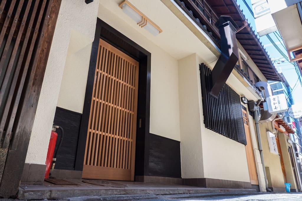 Front door of the 1st floor entrance
