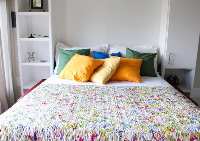 Here it is: a real bed, not just a sofa bed.