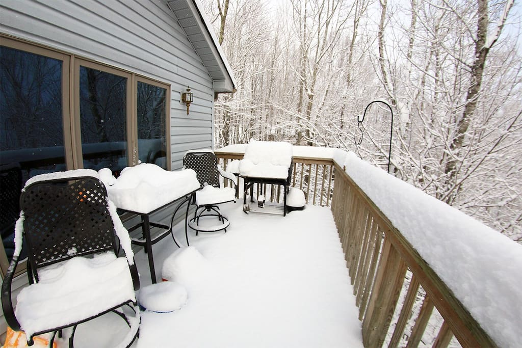 Back Deck in the Snow!
