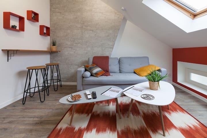 MAGNIFIQUE F2 cocon, cosy - CENTRE Louviers - WIFI