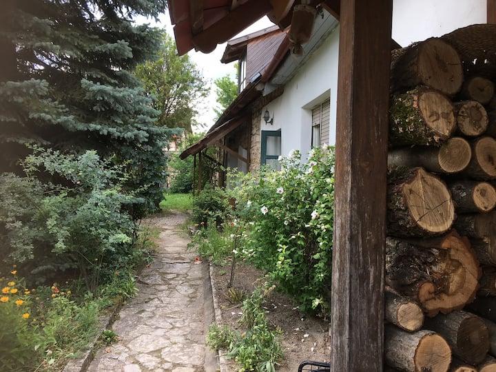 Romantikus apartman egy vadregényes kertben