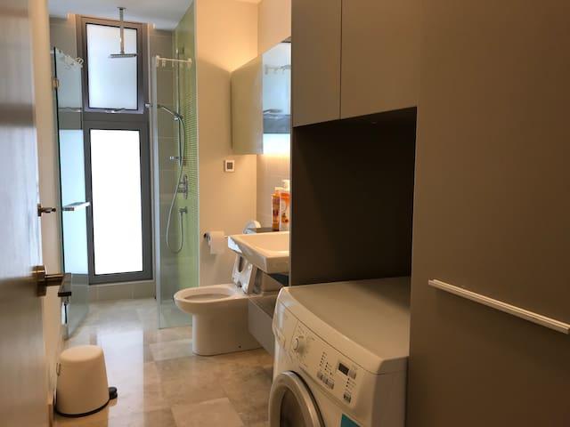 Bathroom with Washer/Dryer