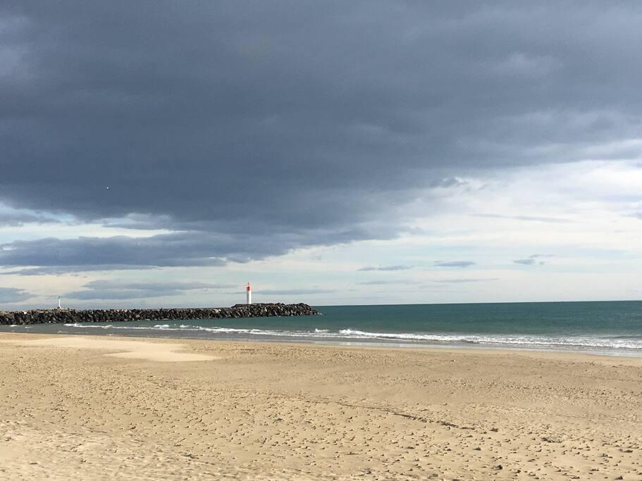 La plage de la Roquille à 50 m de l'appartement