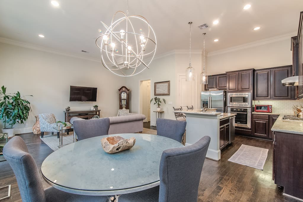 FIRST FLOOR: Walk into first floor living with private back yard and fully stocked kitchen.