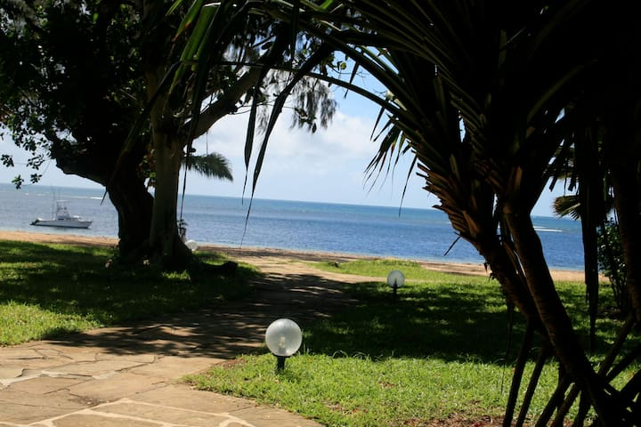 garden stunning tropical view. 50 yard from the indian ocean. private beach .Silvesand : the most imprtant beach in malindi . Location