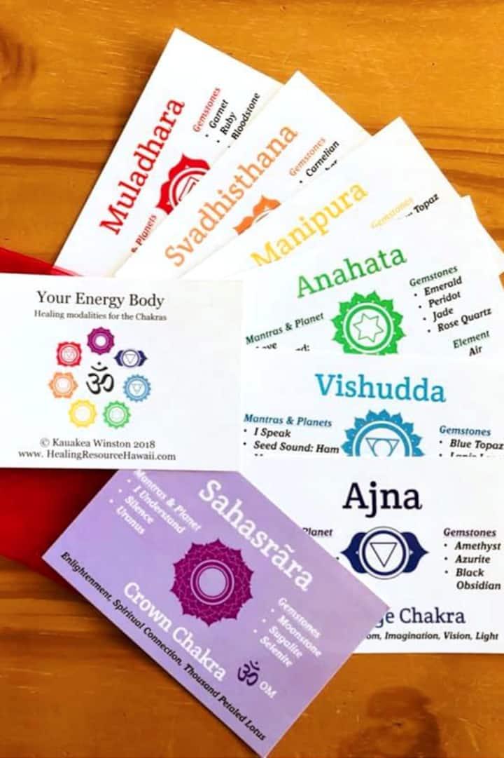 Chakra healing cards Kauakea developed