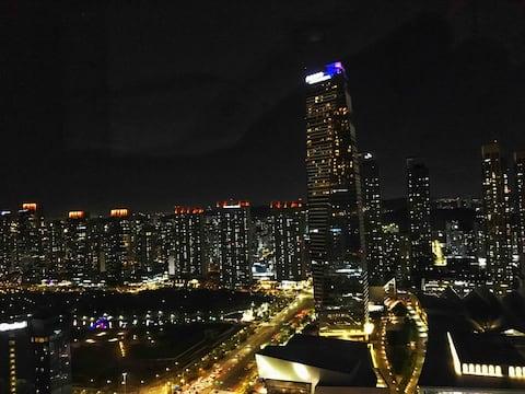 #02, 송도센트럴파크, 야경깡패, 송도 야경이 멋진곳, 인천공항경유