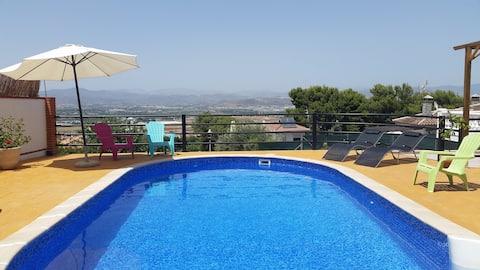 Beautiful villa with private pool in Malaga, Spain
