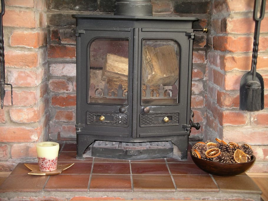 Log burner for cool evenings or lazy afternoons