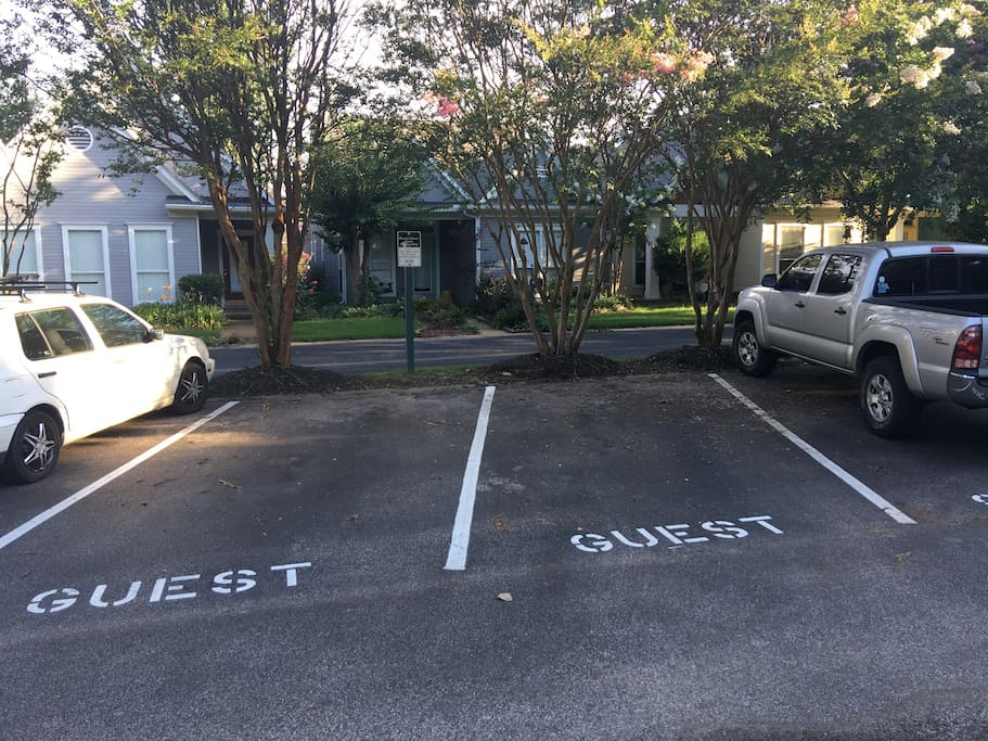 free guest parking directly in front