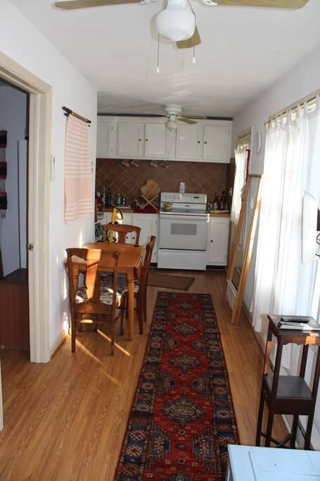 Common area, kitchenette
