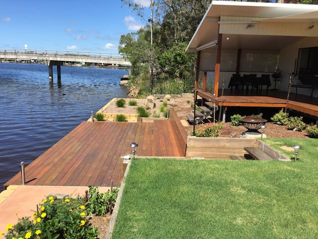 Canal, river and beach home