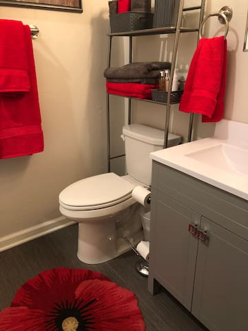 NEW Private bathroom for guests!