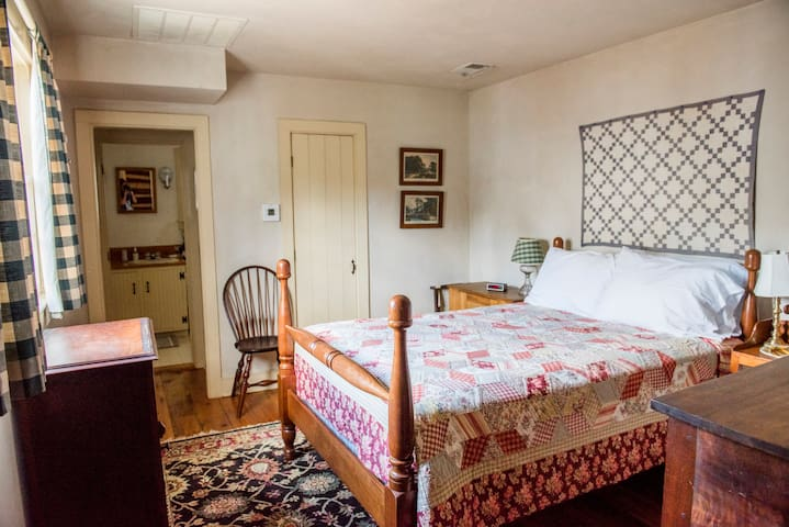 Downstairs Bedroom of Log Cabin