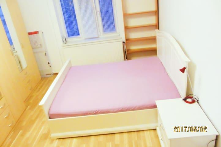 a spacious room near city center (20min.)