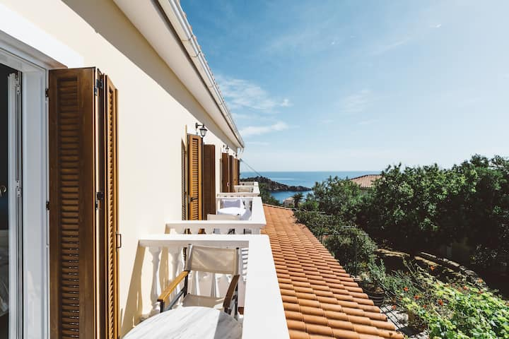 Zante Panorama Seaside View Bright Master Suite