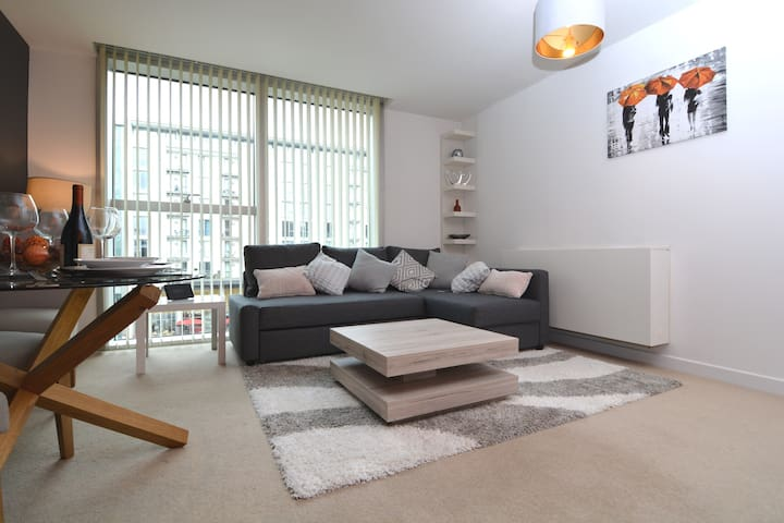 Modern, stylish city centre apartment near station
