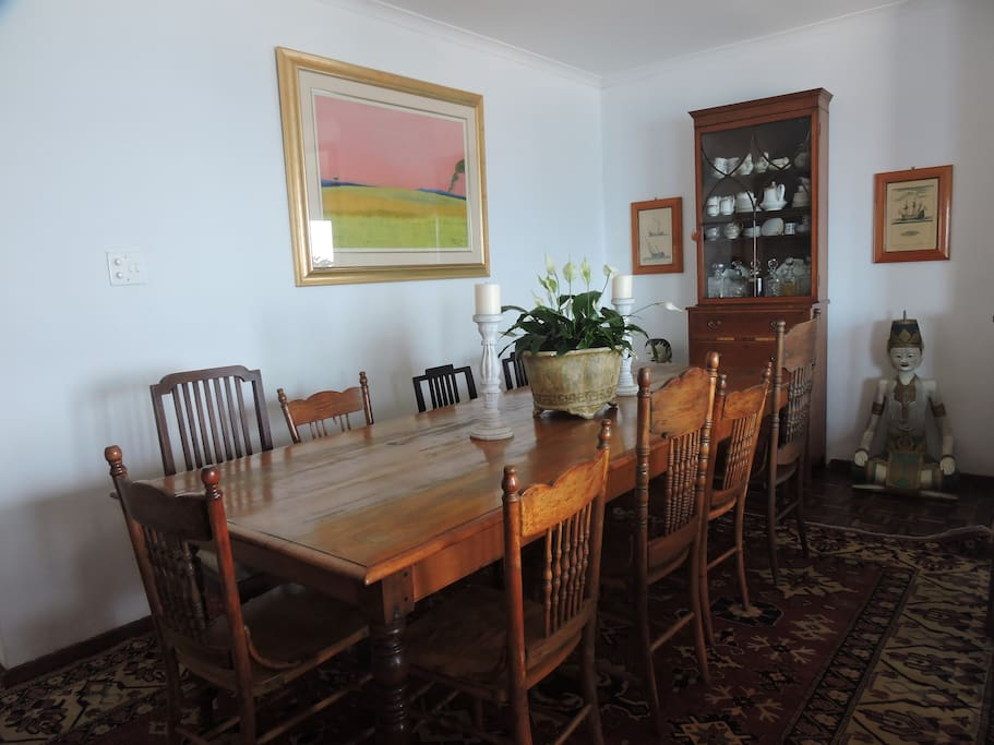 Dining room table on top level - comfortably seats 12 people