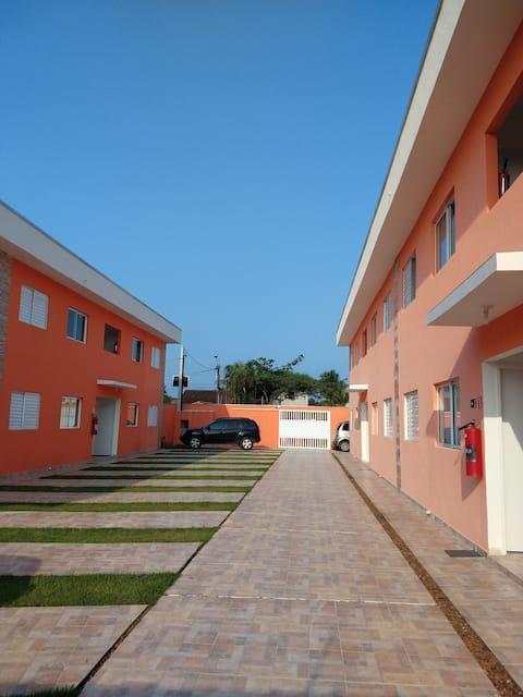 Apartamento em Boracéia! Home office na praia.