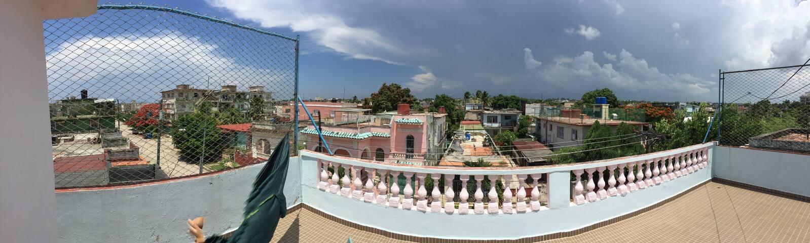 The pink house in Havana