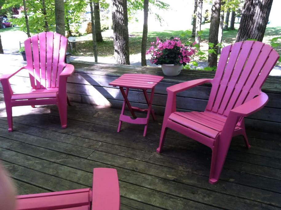 Relax on the front deck
