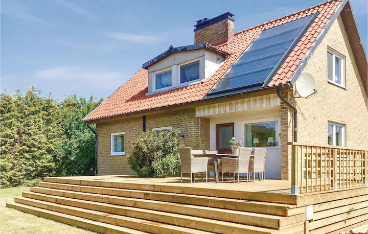 Beautiful home in Abbekås with Sauna, WiFi and 3 Bedrooms