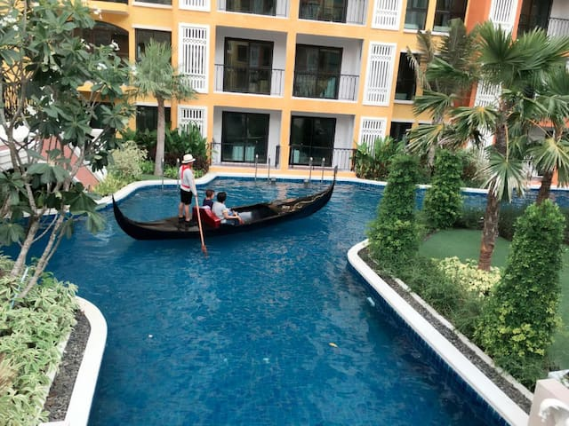 Sailing in the pool area