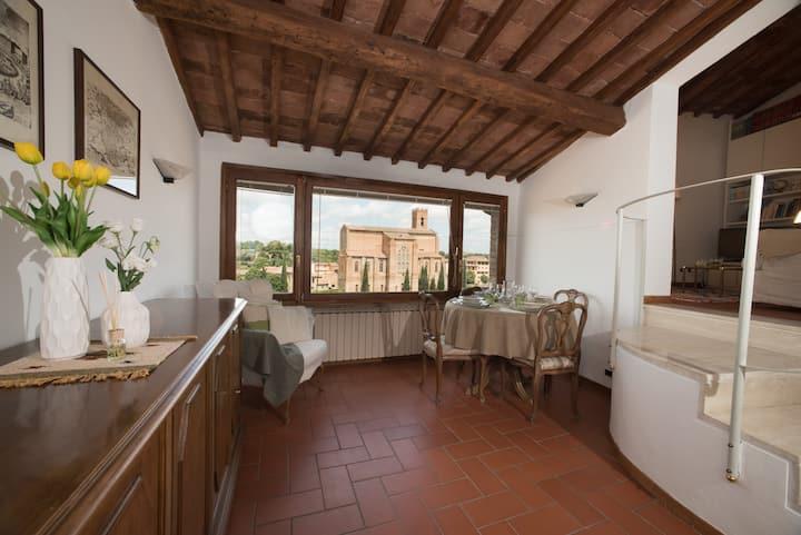 La Cesi - Appartamento con vista a Siena