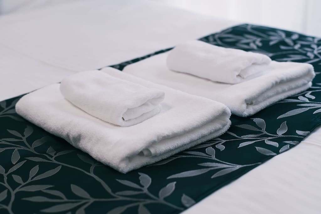 Pair of towels for each guest
