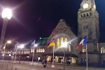 gare de Metz de nuit