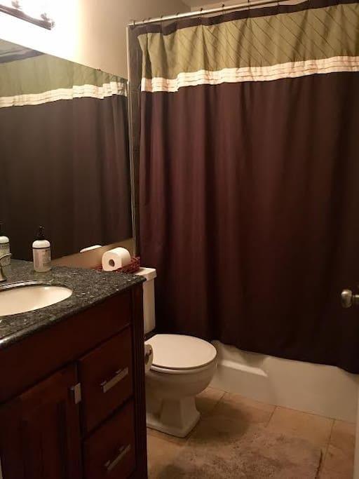 upstairs guest bathroom