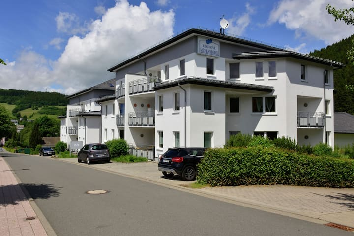 Holiday home in the centre of Willingen - balcony and lovely view of the town