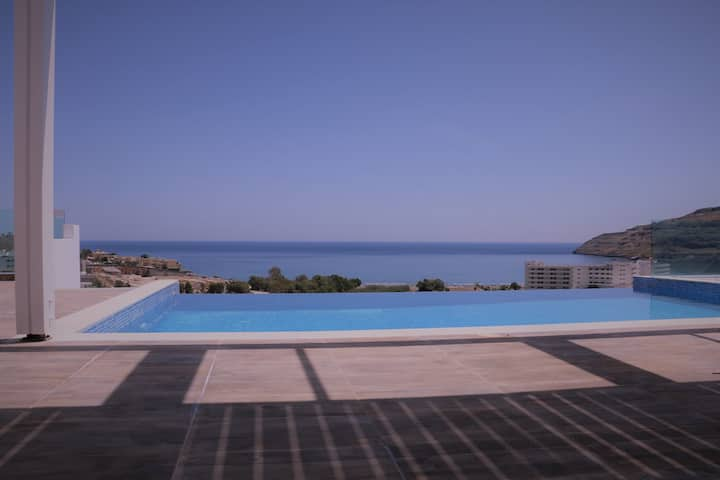 Lindos Villa *K* Seaview and Pool