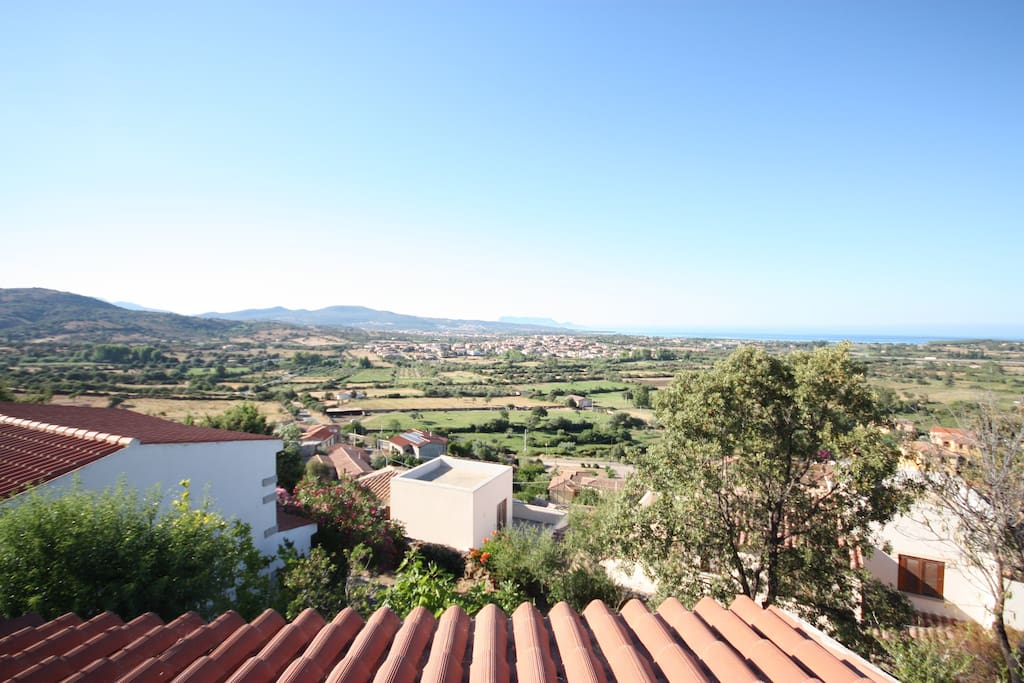 The landscape from the terrace