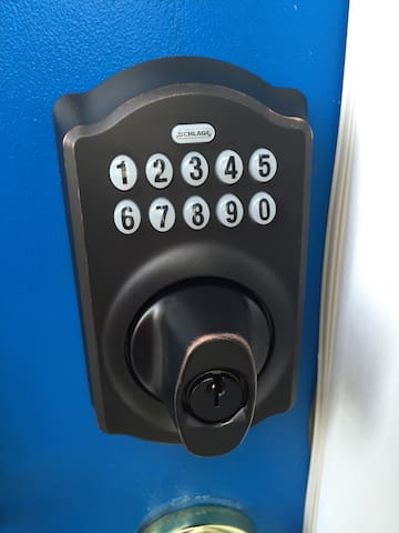 Keyless entry for your convenience.  No looking for keys!