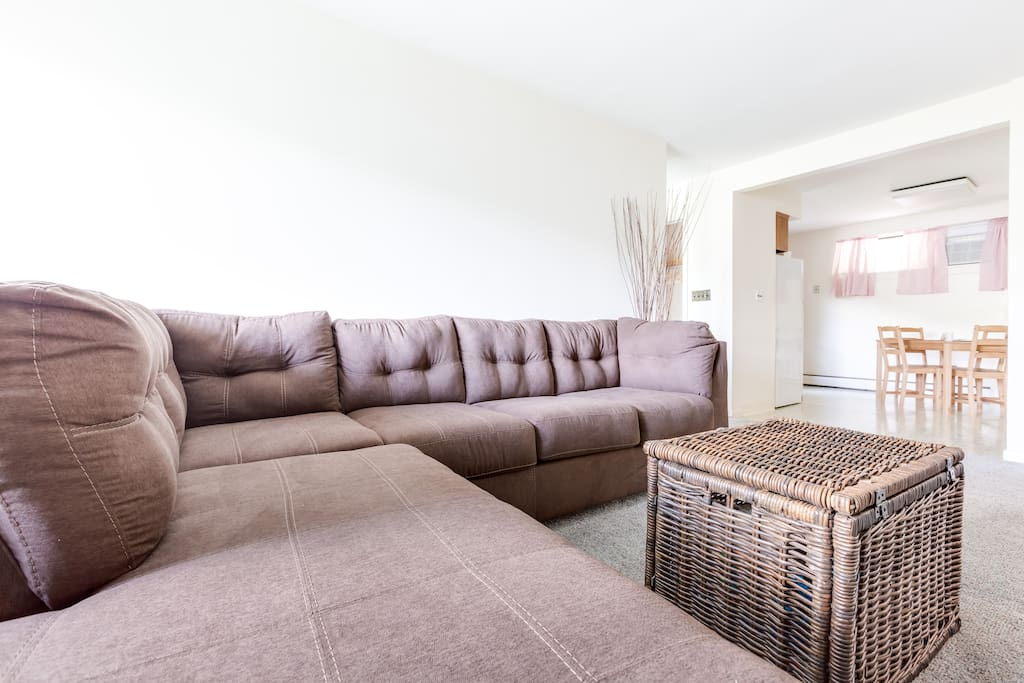 Spacious Living Room with large sectional sofa.