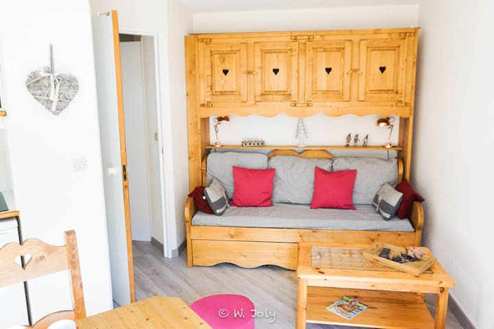 2 rooms, on slopes, charming apartement, wifi - Les Allues - Appartement