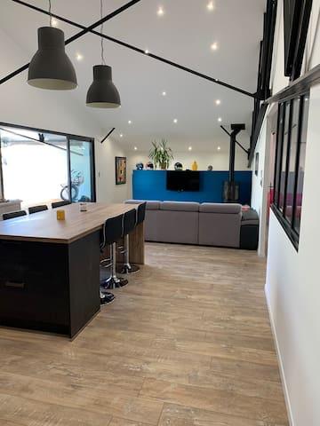 Loft entier avec grande terrasse
