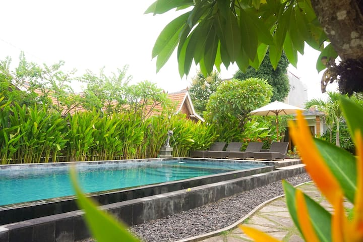Near  from  restaurant   ,comfortable room &pool
