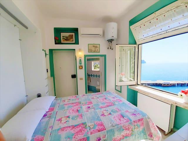 Bedroom Amalfi Coast Tiny Loft ⁐ Couples or Solo Traveler