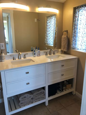 Brand new double sink vanity.