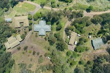 Aerial view of buildings - total area = 200 acres.