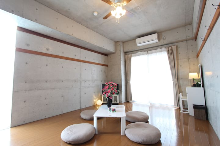 autumn-campaign!Studio by beach for 4 ppl! Rm 403 - Chatan-chō - Departamento