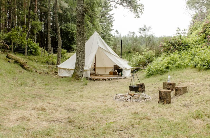 Glamping on the whisky trail (Birch 5m Bell Tent)