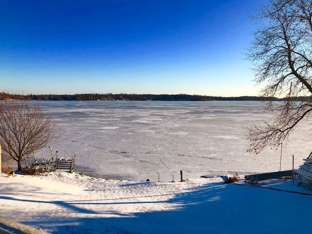Plenty of ice to fish and snowmobile!