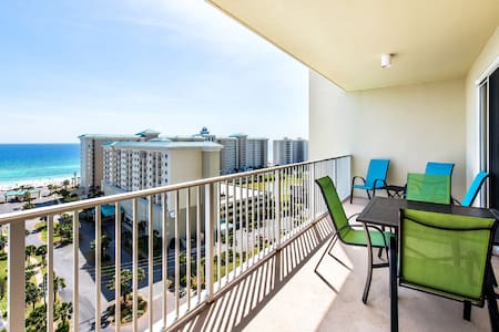 12th Floor Gulf VIEW☀Pools+ Hot Tub☀2 Step Sanitizing Process☀Ariel Dunes I 1204