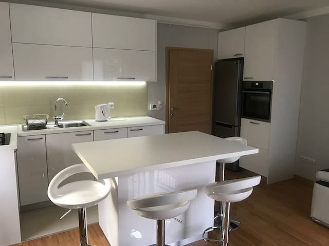 New apartment  with garden, free parking