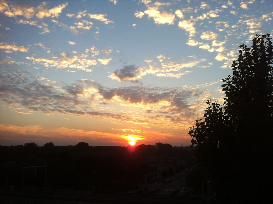 The view from our appartments can give some spectaculair sunsets!