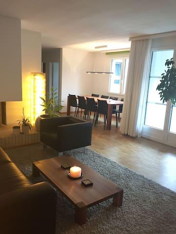 Master Bedroom in Modern Home in Zurich