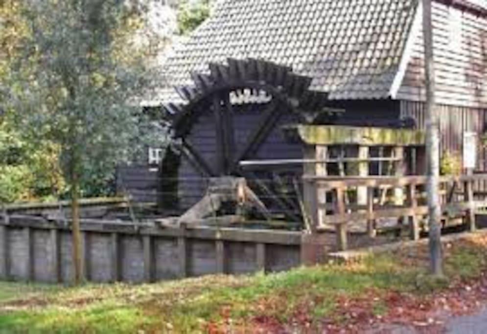 Scenery in the neighbourhood. Water mill.